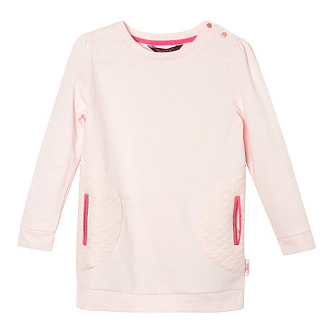 Baker by Ted Baker - Girl+s light pink botanical satin back sweat top
