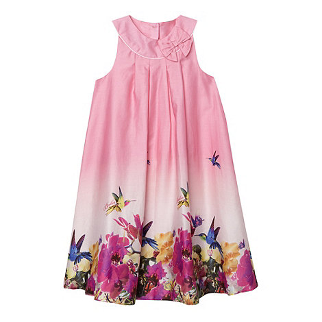 Baker by Ted Baker - Girl+s pink orchid border print A-line dress
