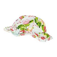 Baker by Ted Baker - Babies aqua floral reversible hat