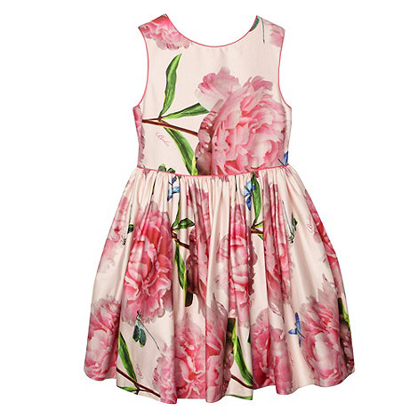 Baker by Ted Baker - Girl+s pink peony flower dress