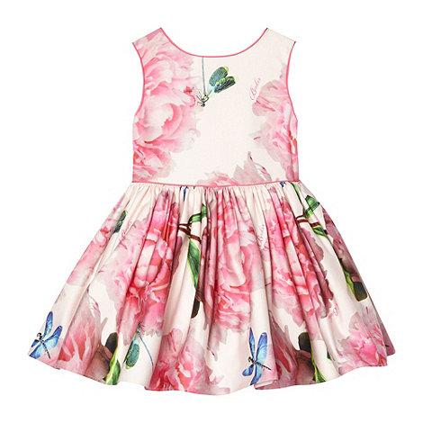 Baker by Ted Baker - Girl+s pink peony flower dress