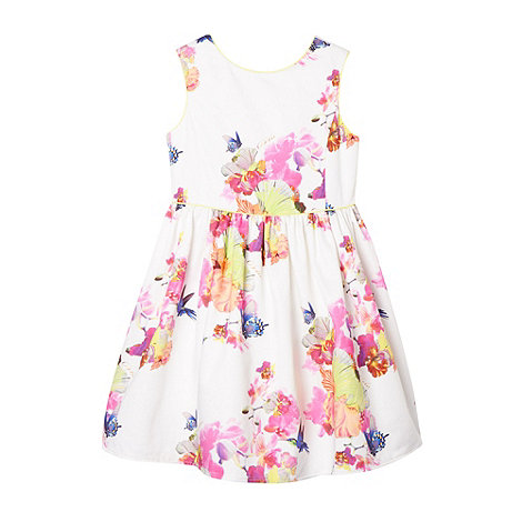 Baker by Ted Baker - Girl's white floral orchard dress
