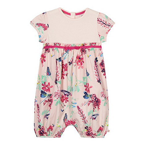 Baker by Ted Baker - Babies light pink dragonfly romper suit