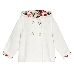 Baker by Ted Baker - Babies off white chunky knit cardigan