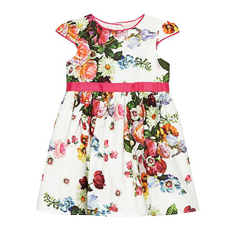 Baker by Ted Baker - Babies off white floral prom dress