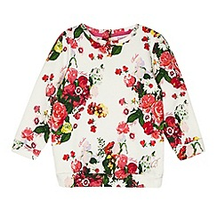 Baker by Ted Baker - Girl's off white floral sweat top