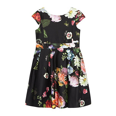 Baker by Ted Baker - Girl+s black floral prom dress
