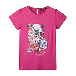 Baker by Ted Baker - Girl's pink dragonfly logo top
