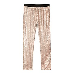 Baker by Ted Baker - Girl's light pink sequin trousers