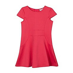 Baker by Ted Baker - Girl's dark pink ponte panel dress