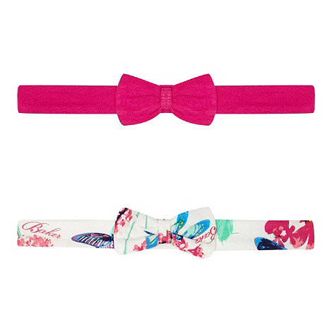 Baker by Ted Baker - Pack of two babies pink printed headbands