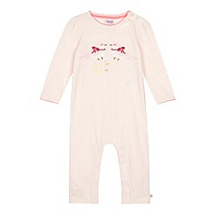 Baker by Ted Baker - Babies light pink graphic birds sleepsuit