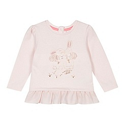 Baker by Ted Baker - Girl's light pink bunny jumper