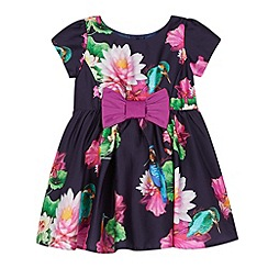 Baker by Ted Baker - Babies navy graphic floral prom dress