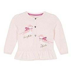 Baker by Ted Baker - Babies pale pink bird cardigan