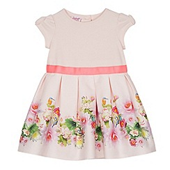 Baker by Ted Baker - Babies light pink floral border dress