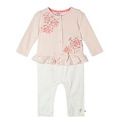 Baker by Ted Baker - Babies light pink peplum romper suit