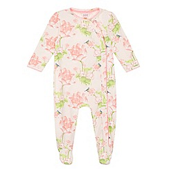 Baker by Ted Baker - Babies pink floral sleepsuit