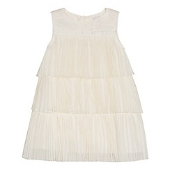 Baker by Ted Baker - Girl's off white tiered chiffon dress