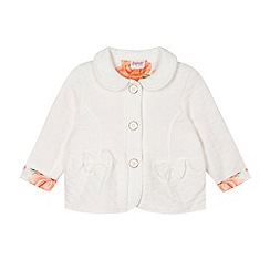 Baker by Ted Baker - Girl's off white quilted bow jacket