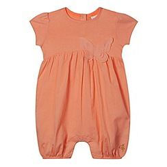 Baker by Ted Baker - Babies light orange butterfly romper suit