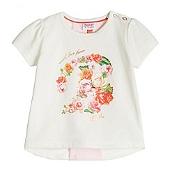 Baker by Ted Baker - Girl's off white rose printed top