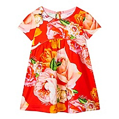 Baker by Ted Baker - Babies orange rose jersey dress