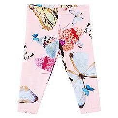 Baker by Ted Baker - Girl's light pink butterfly leggings