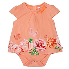 Baker by Ted Baker - Babies orange rose print bodysuit