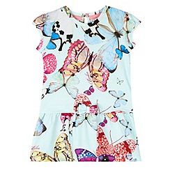 Baker by Ted Baker - Girl's pink butterfly printed dress