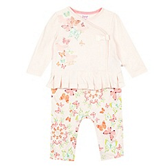 Baker by Ted Baker - Babies light pink 2-in-1 butterfly top