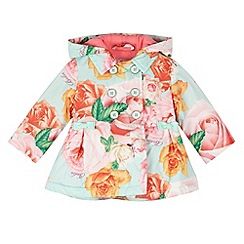 Baker by Ted Baker - Girl's green rose printed mac