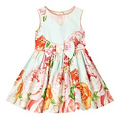 Baker by Ted Baker - Babies light green rose print prom dress