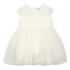 Baker by Ted Baker - Babies off white pleated bodice mesh dress