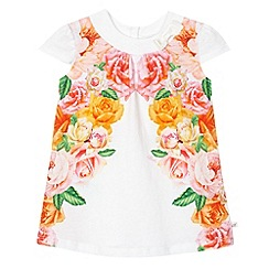 Baker by Ted Baker - Babies off white mirrored rose print t-shirt