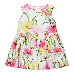 Baker by Ted Baker - Babies white hibiscus prom dress