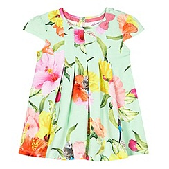 Baker by Ted Baker - Babies light green parakeet jersey dress