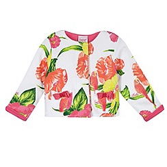 Baker by Ted Baker - Babies white parakeet print sweat jacket