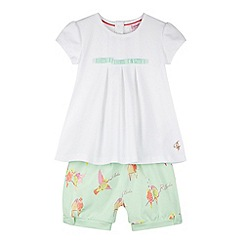 Baker by Ted Baker - Babies white top and shorts set