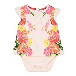 Baker by Ted Baker - Girl's 2-in-1 light pink mirror bodysuit