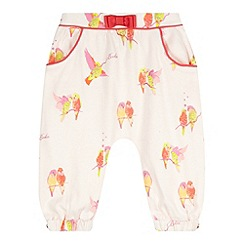 Baker by Ted Baker - Babies light pink bird print hareem pants