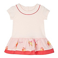 Baker by Ted Baker - Babies light pink printed frill top