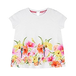 Baker by Ted Baker - Babies white hibiscus hem t-shirt