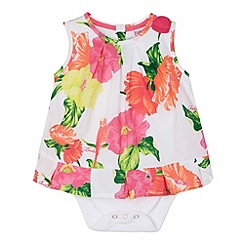 Baker by Ted Baker - Babies white hibiscus 2-in-1 bodysuit