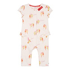 Baker by Ted Baker - Babies light pink parakeet print sleepsuit and headband set