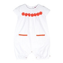 Baker by Ted Baker - Babies white flower detail woven romper