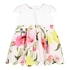 Baker by Ted Baker - Girl's light pink hibiscus mockable dress