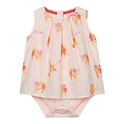 Baker by Ted Baker - Babies light pink parakeet 2-in-1 bodysuit