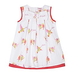 Baker by Ted Baker - Babies white parakeet print sundress