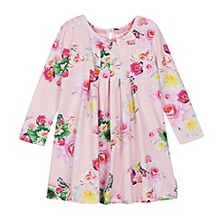 Baker by Ted Baker - Girl's light pink floral jersey dress